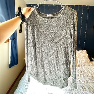 Grey Long-Sleeve Sweater